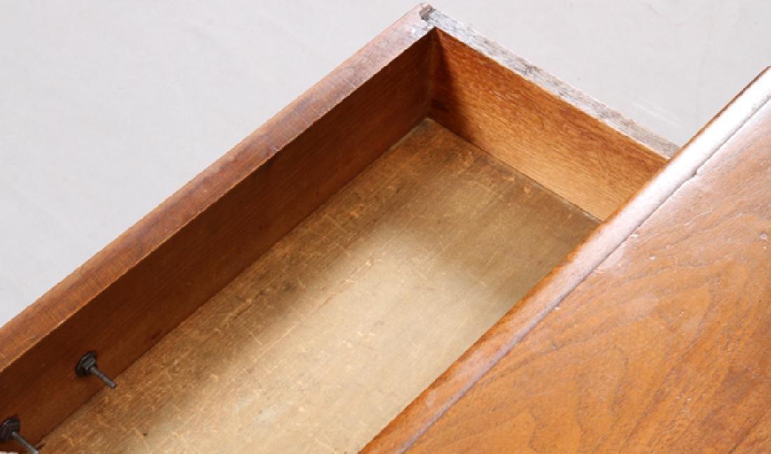 """VICTORIAN WALNUT SIDE TABLE, H 28"""", L 34"""", D 23"""" - 3"""
