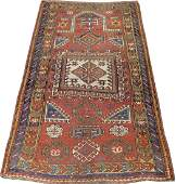 PERSIAN HANDWOVEN WOOL PRAYER RUG, W 4', L 6' 9""