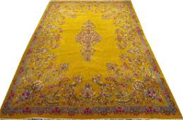 PERSIAN KERMAN HAND WOVEN WOOL CARPET