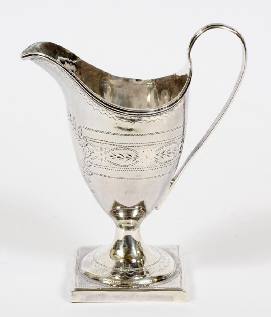 GEORGIAN SILVER CREAM JUG BY EW, 1796