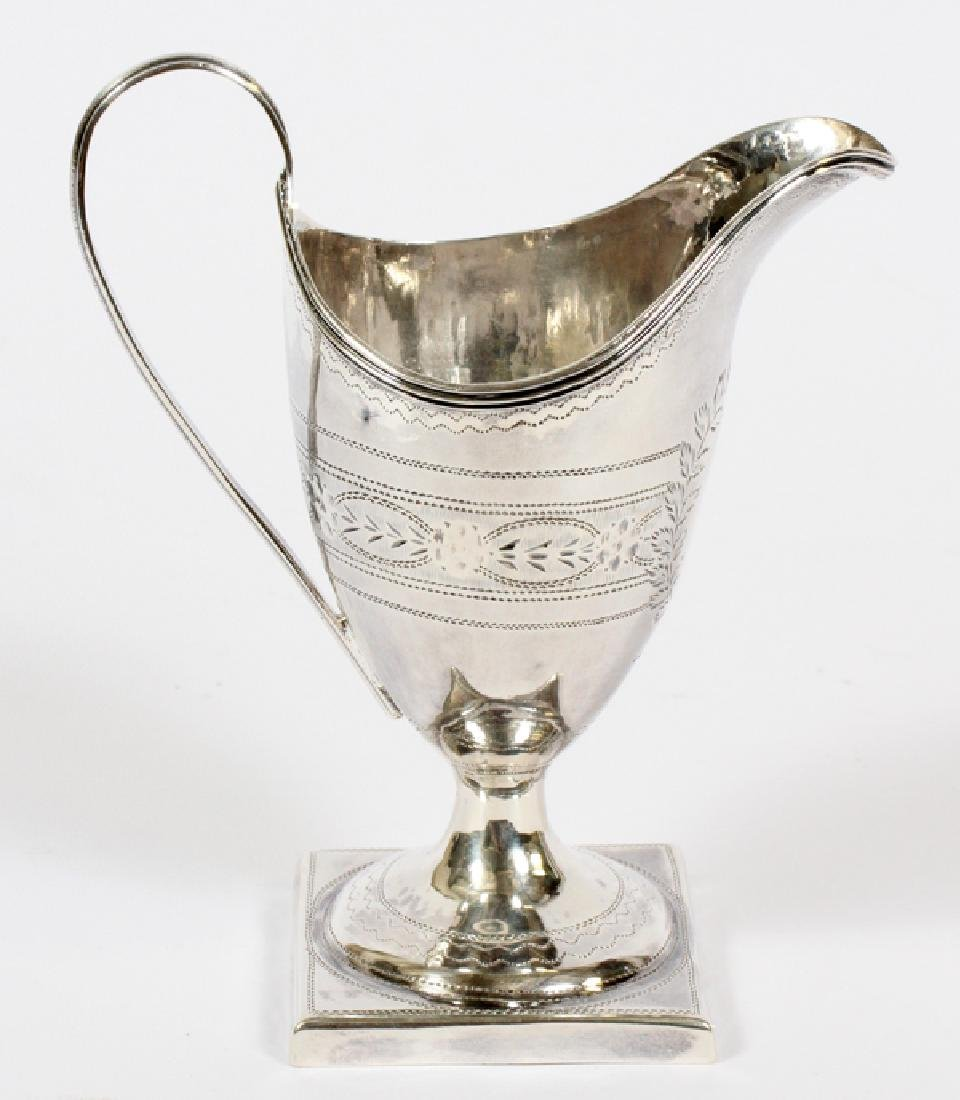 GEORGIAN SILVER CREAM JUG BY EW, 1796 - 2