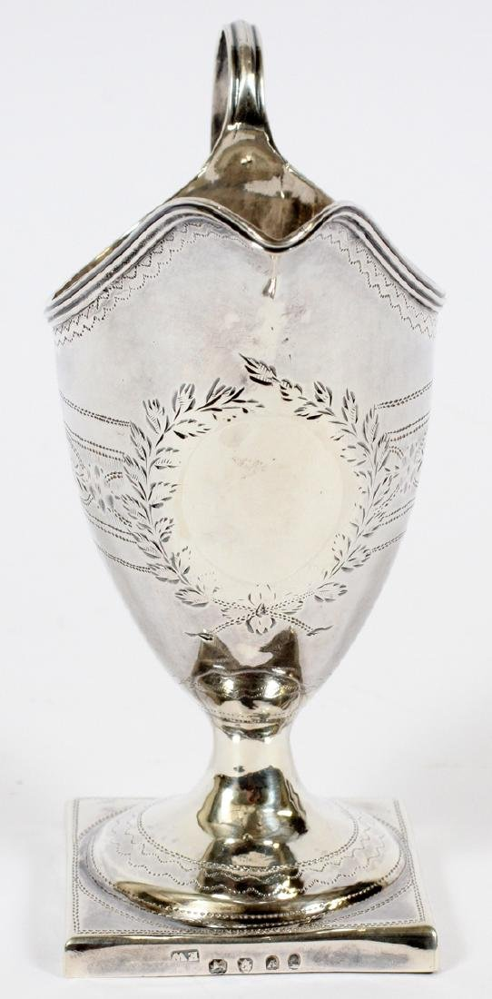 GEORGIAN SILVER CREAM JUG BY EW, 1796 - 3