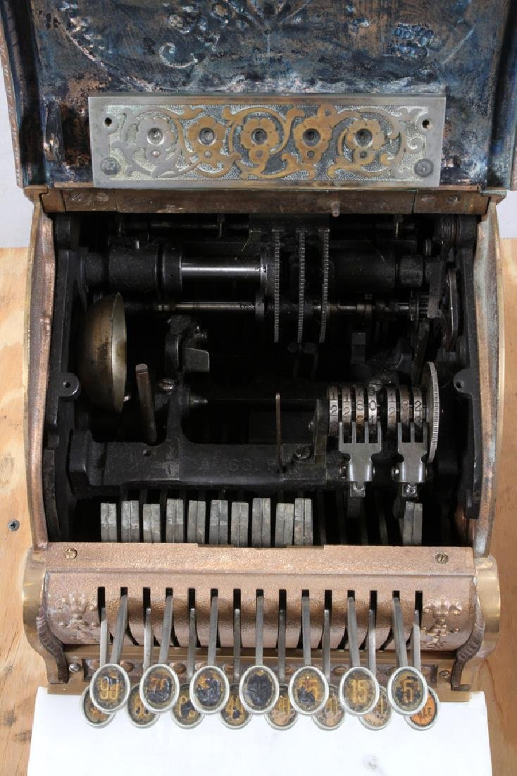 ANTIQUE NATIONAL CASH REGISTER 19TH.C. - 5