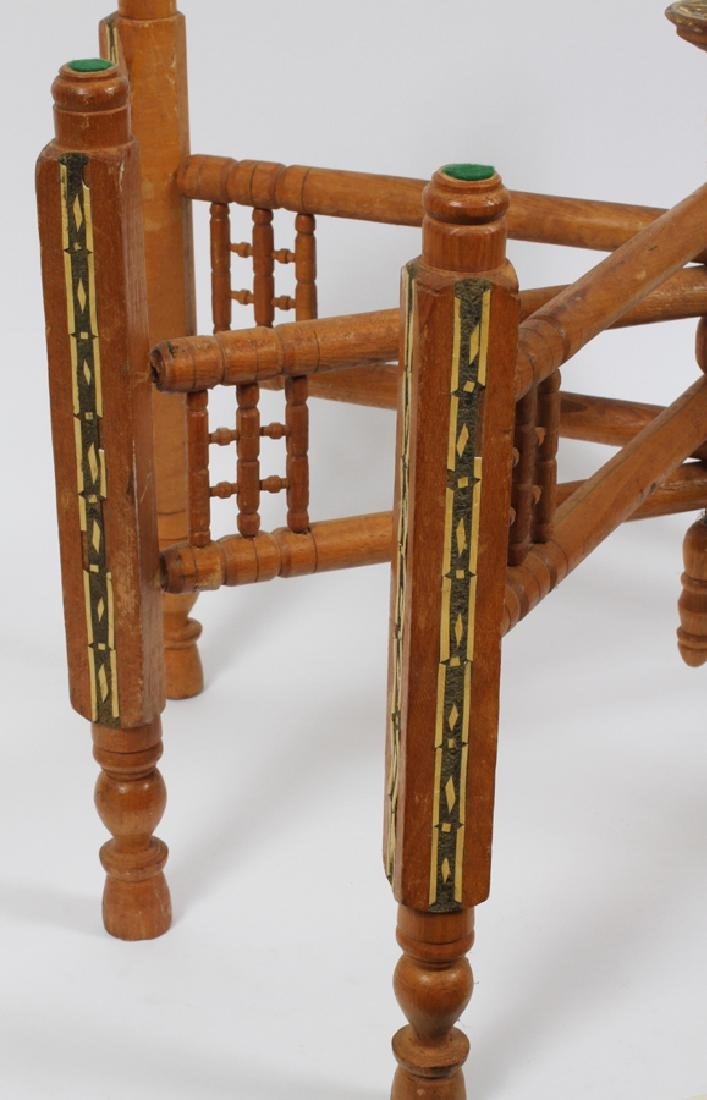 EGYPTIAN, BRASS TRAY TABLE AND STAND, C1950 - 2