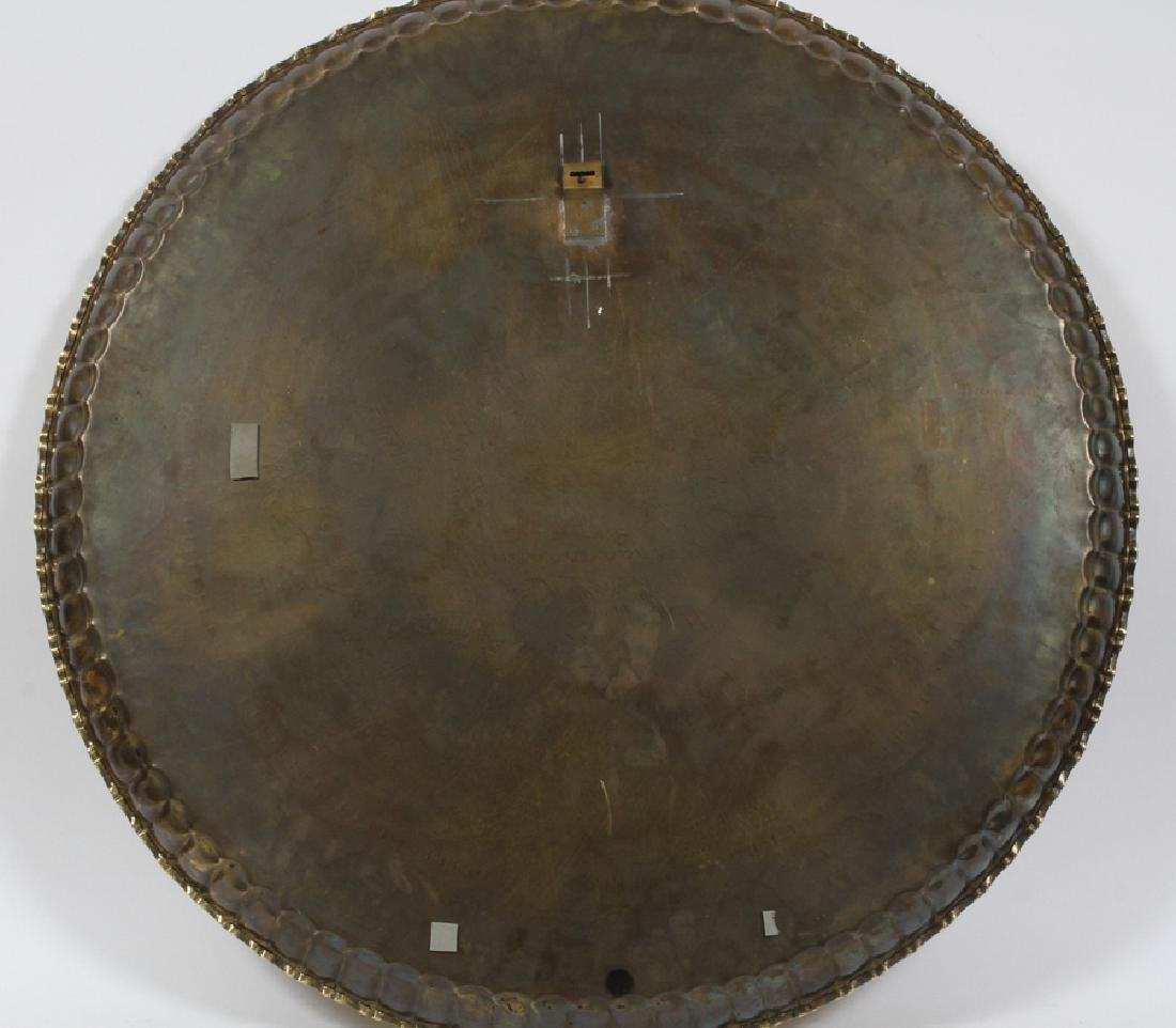EGYPTIAN, BRASS TRAY TABLE AND STAND, C1950 - 7