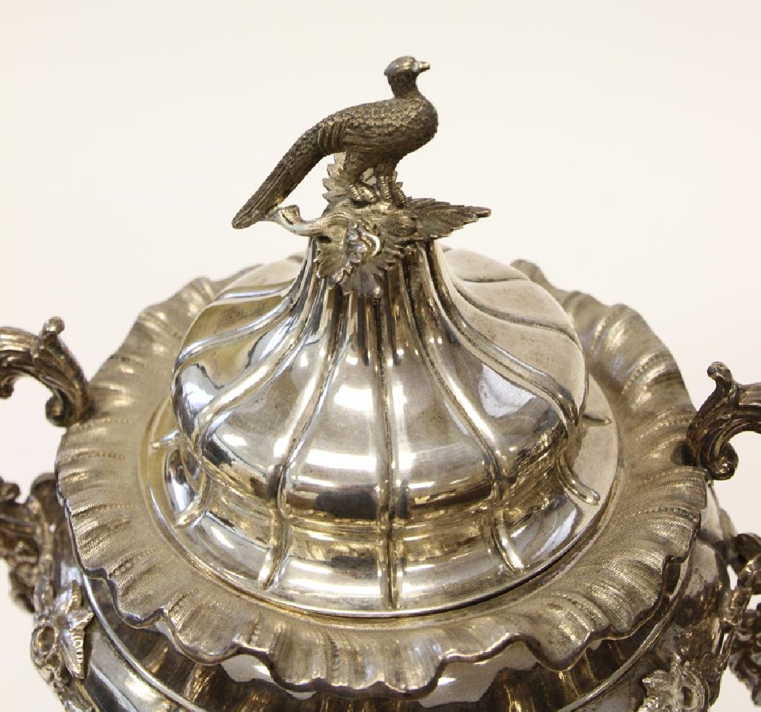 SWEDISH STERLING SILVER URNS, PAIR - 2