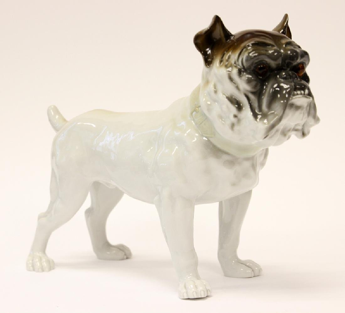 NIPPON PORCELAIN BULL DOG FIGURE