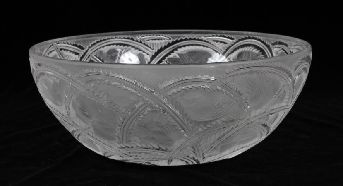 LALIQUE FRANCE SPARROW PATTERN CRYSTAL
