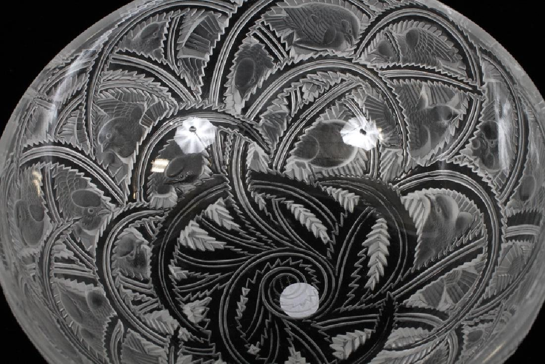 LALIQUE FRANCE SPARROW PATTERN CRYSTAL - 2