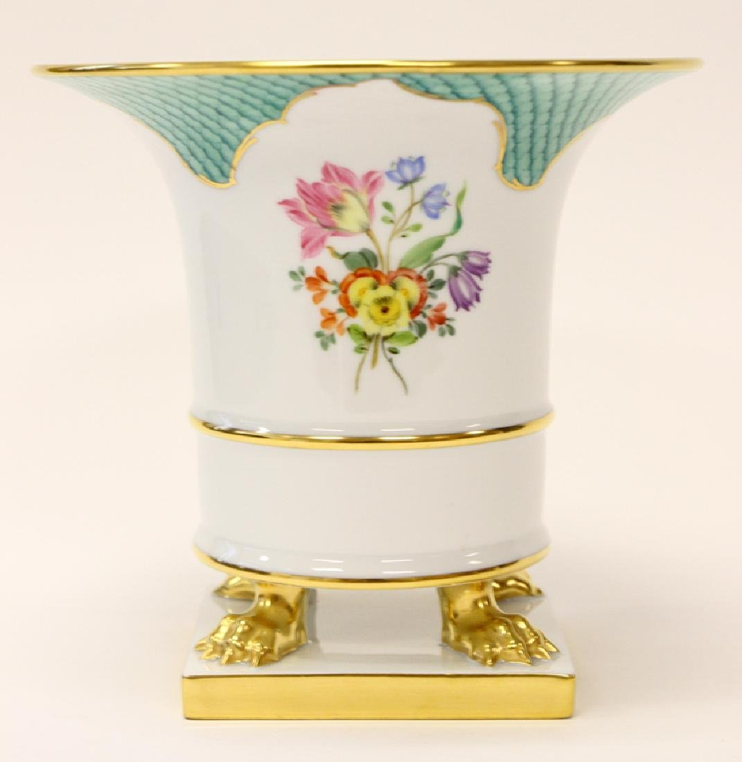 HEREND EMPIRE STYLE FOOTED PORCELAIN VASE
