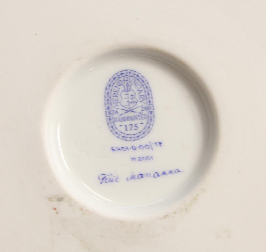 HEREND EMPIRE STYLE FOOTED PORCELAIN VASE - 3
