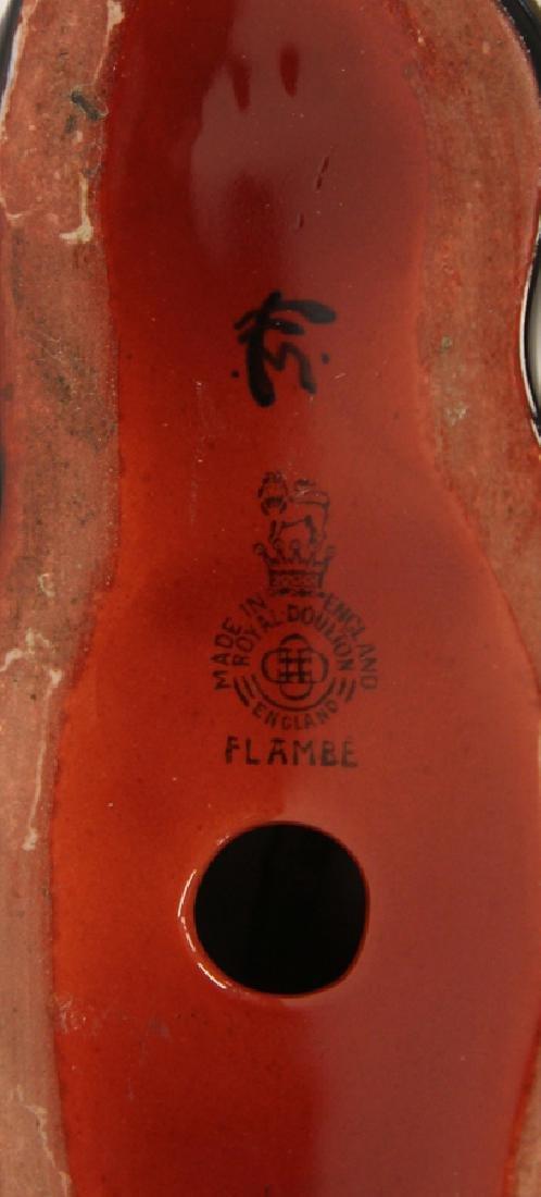 ROYAL DOULTON 'FLAMBE' GLAZE  PORCELAIN RABBIT - 3