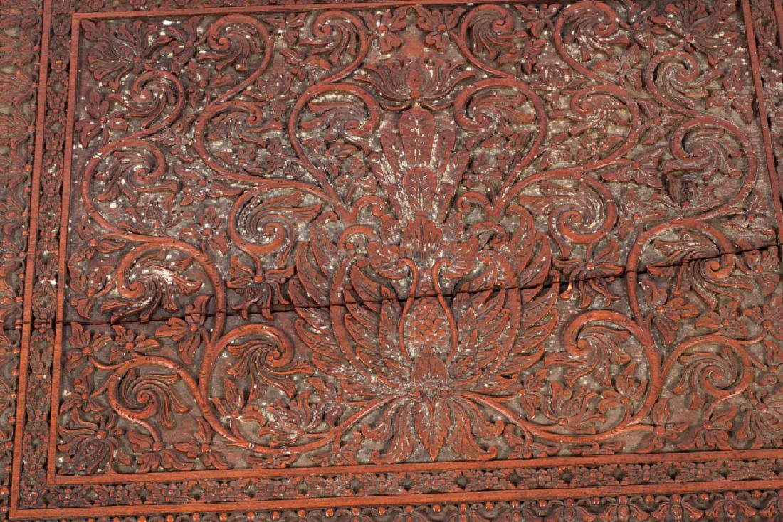 ANTIQUE CARVED BIBLE BOX - 2
