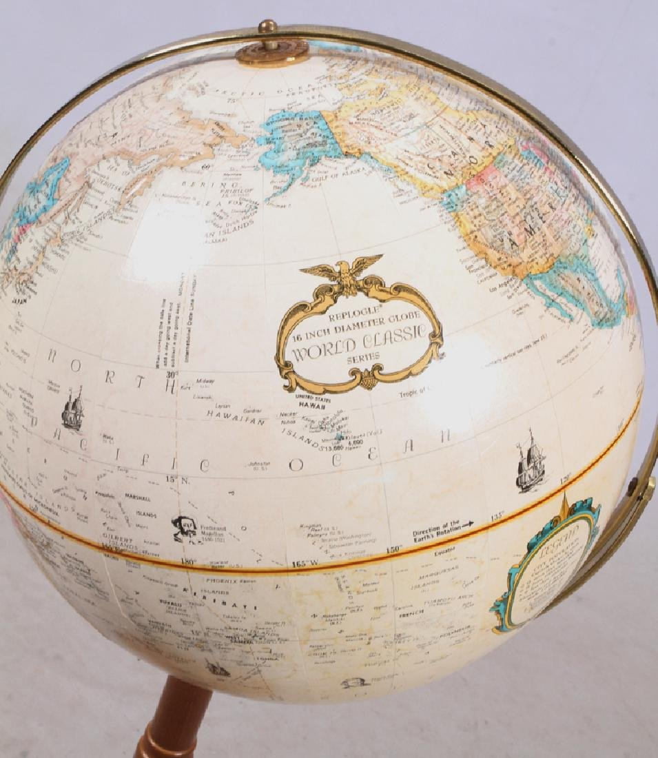 "REPLOGLE ""WORLD CLASSIC SERIES"" GLOBE OF THE WORLD - 3"