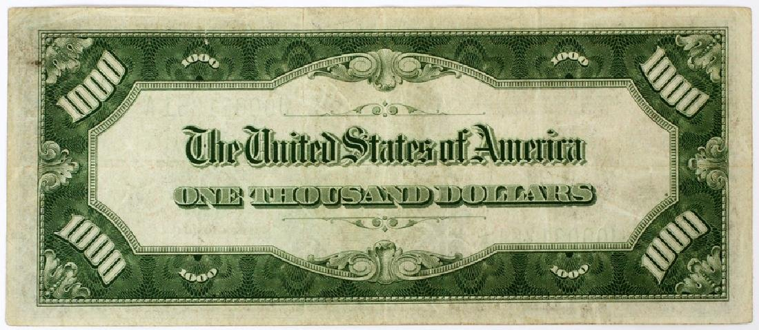 US FEDERAL RESERVE NOTE $1,000, 1934 - 2