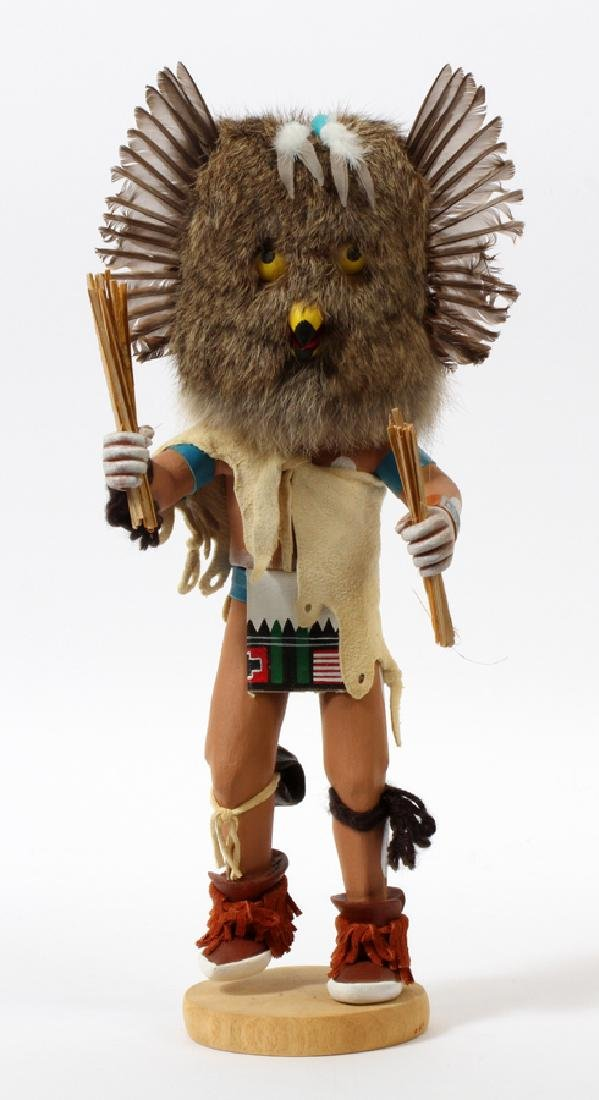 NATIVE AMERICAN, OWL KACHINA DOLL, H 13""