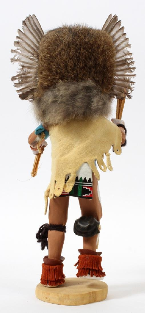 "NATIVE AMERICAN, OWL KACHINA DOLL, H 13"" - 2"