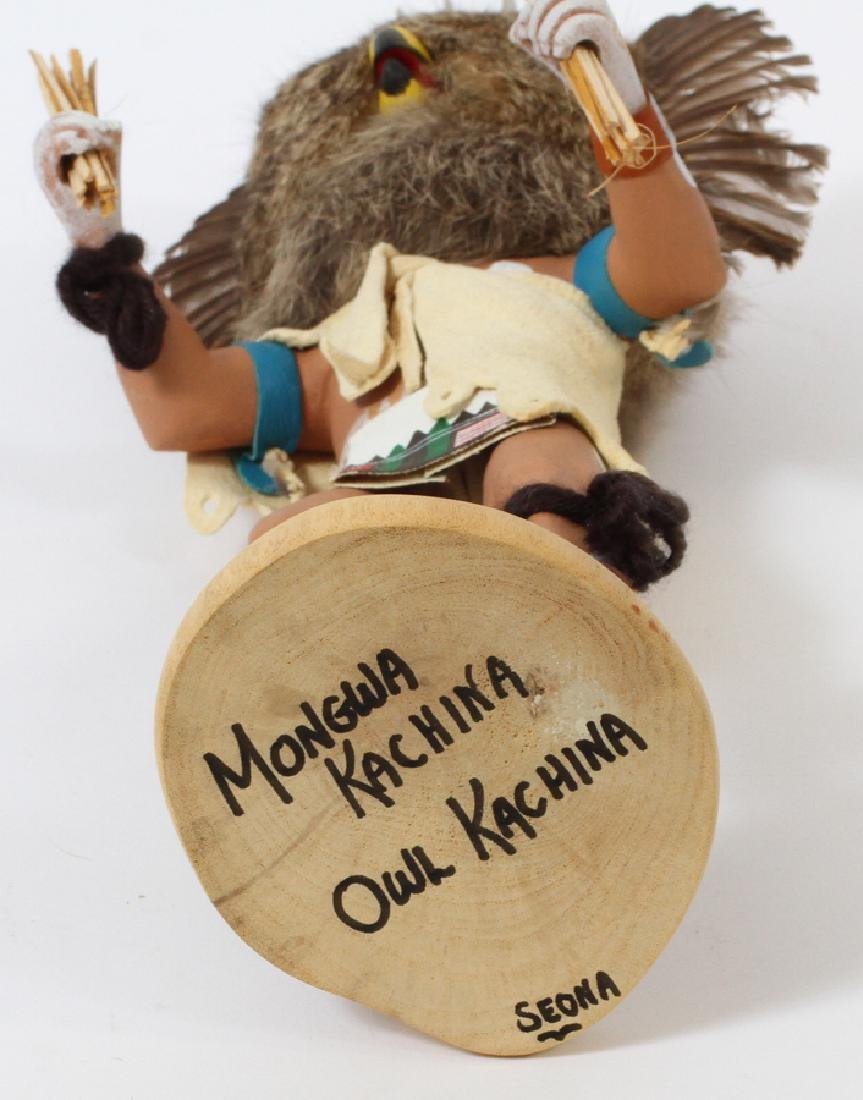 "NATIVE AMERICAN, OWL KACHINA DOLL, H 13"" - 3"