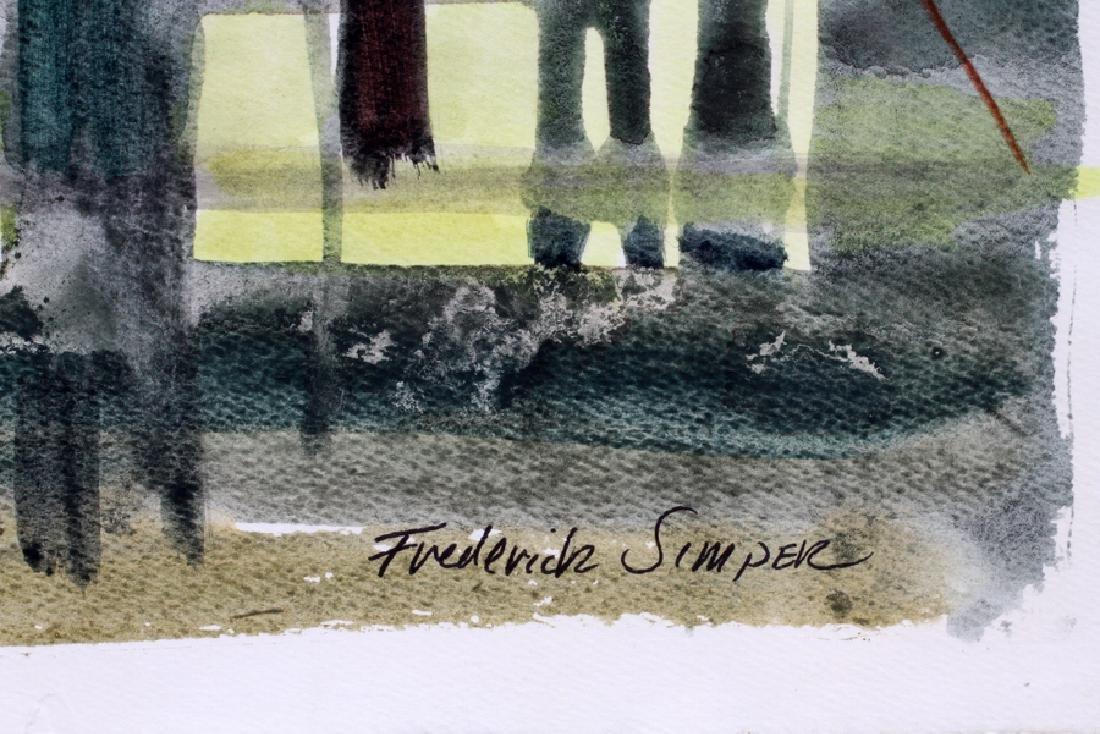 """FREDERICK SIMPER, WATERCOLOR, H 26"""", W 39"""" - 2"""