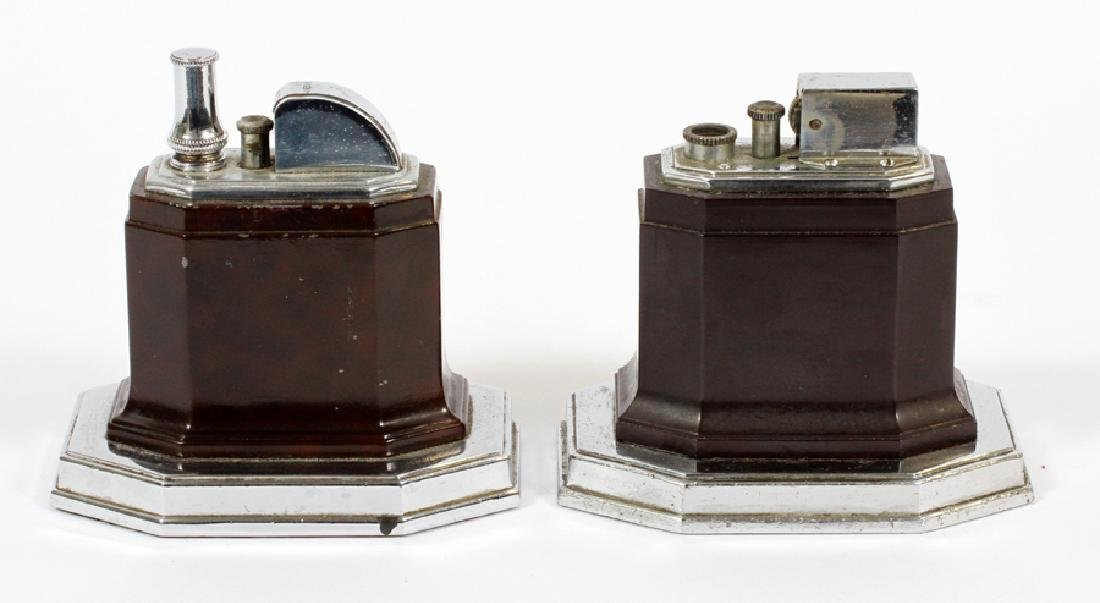 RONSON TORCH-TIP ART DECO TABLE LIGHTERS, 2 - 2