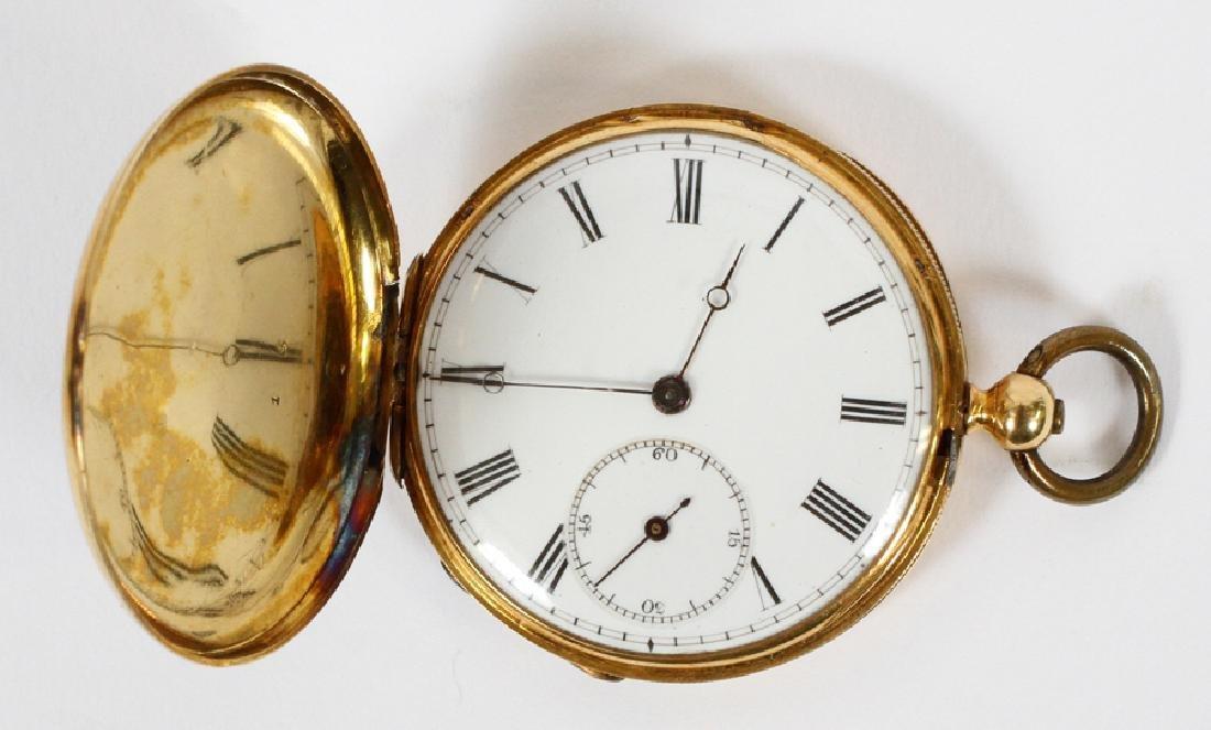 J R  PUSADA LONDON ENAMEL & GOLD POCKET WATCH