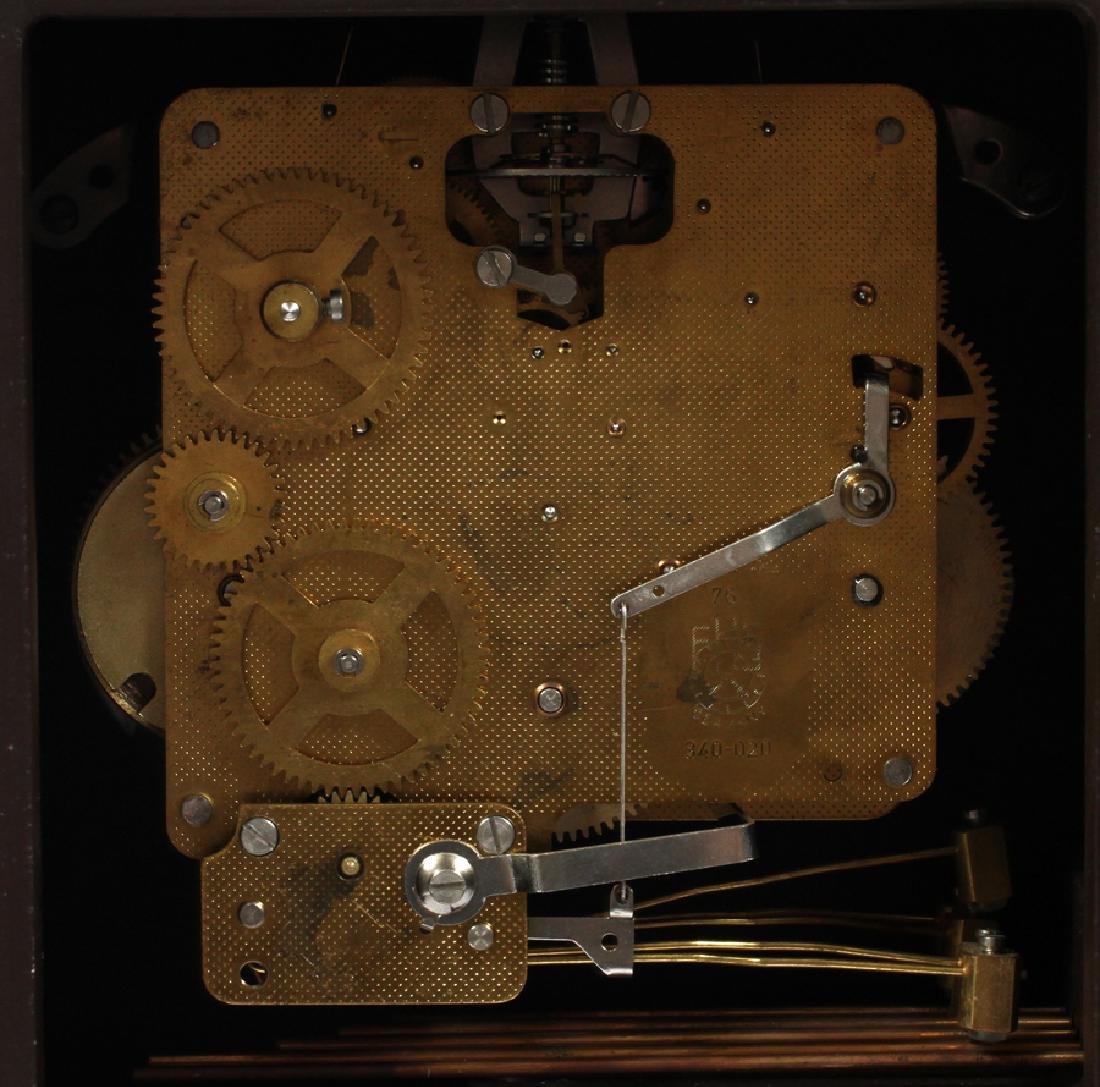 FRENCH STYLE  BRACKET CLOCK ON SHELF - 6