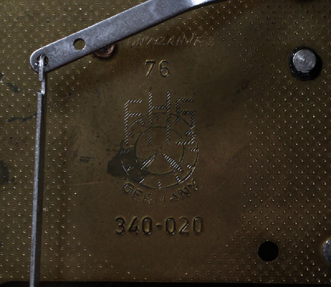 FRENCH STYLE  BRACKET CLOCK ON SHELF - 7