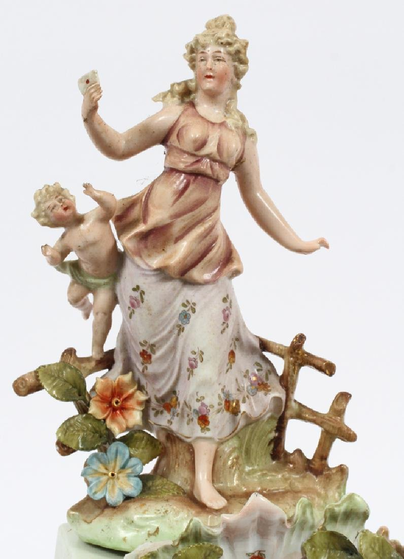 GERMAN PORCELAIN MANTLE CLOCK, CIRCA  1900 - 2