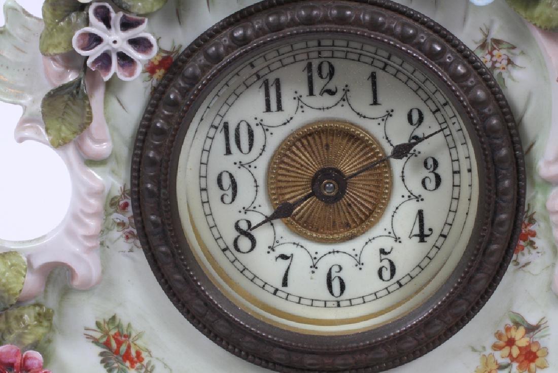 GERMAN PORCELAIN MANTLE CLOCK, CIRCA  1900 - 3