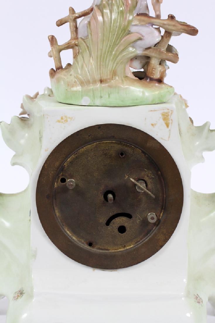 GERMAN PORCELAIN MANTLE CLOCK, CIRCA  1900 - 7