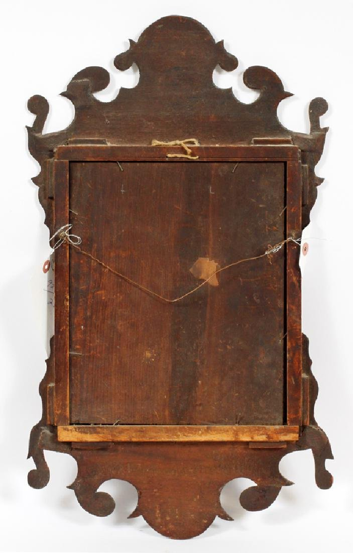 CHIPPENDALE MAHOGANY CARVED MIRROR - 3