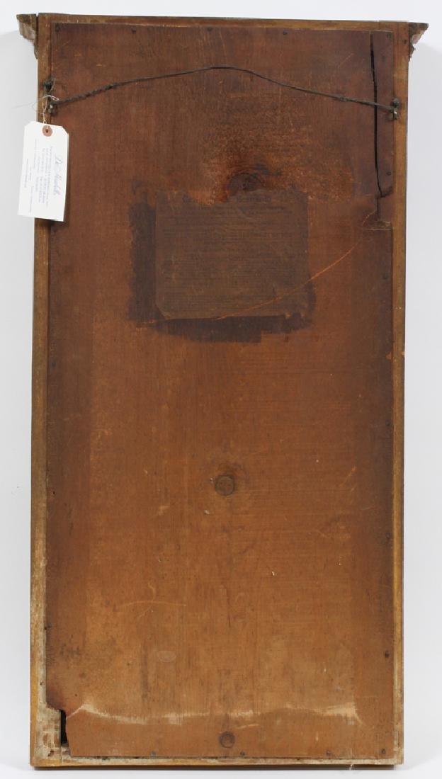 CIRCA 1850 WALL  MIRROR, EGLOMISE PANEL - 3