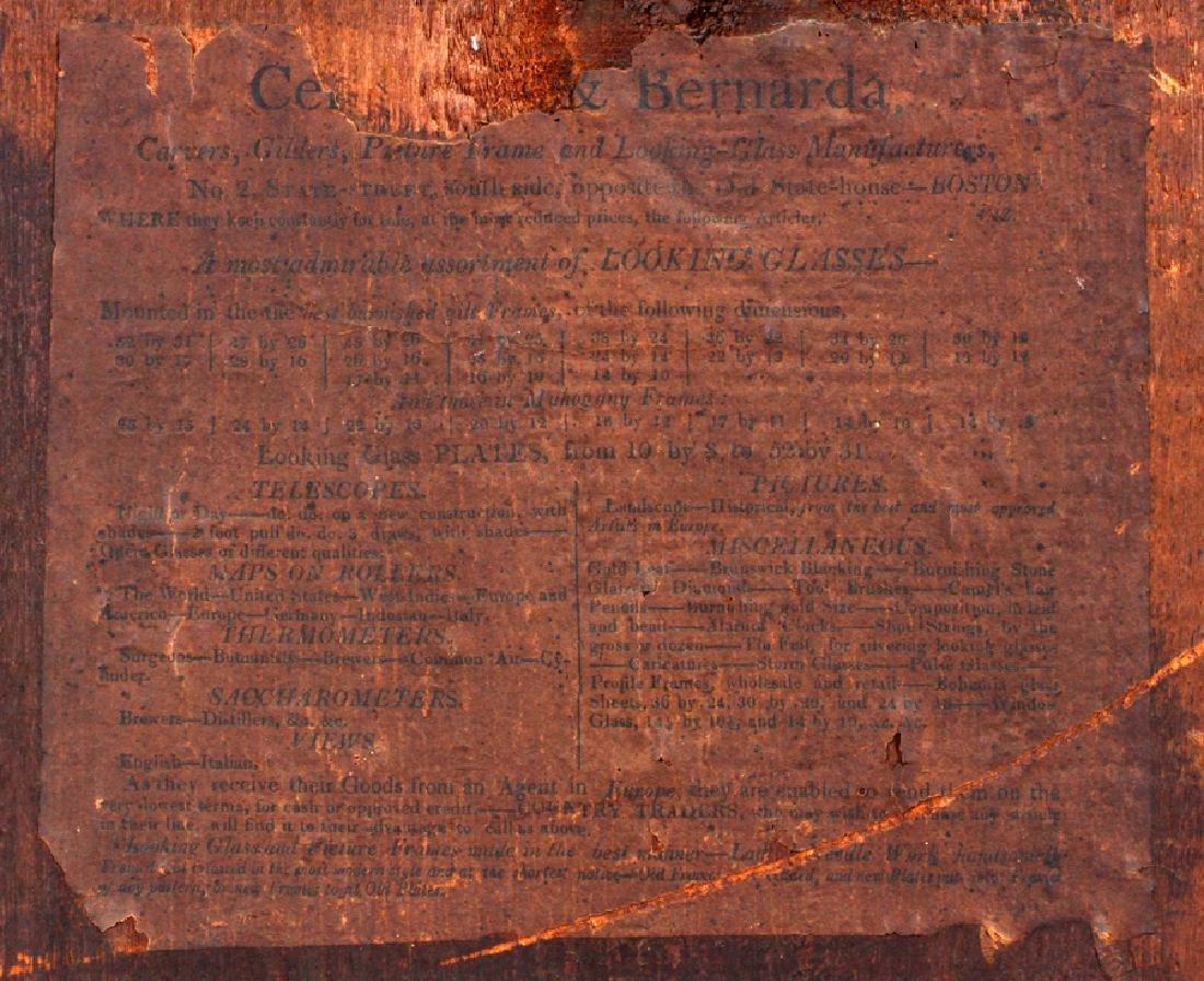 CIRCA 1850 WALL  MIRROR, EGLOMISE PANEL - 4
