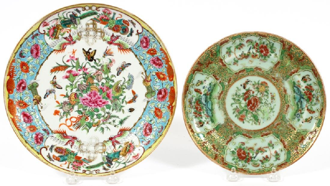 CHINESE PORCELAIN PLATES, 19TH C., 2 PIECES