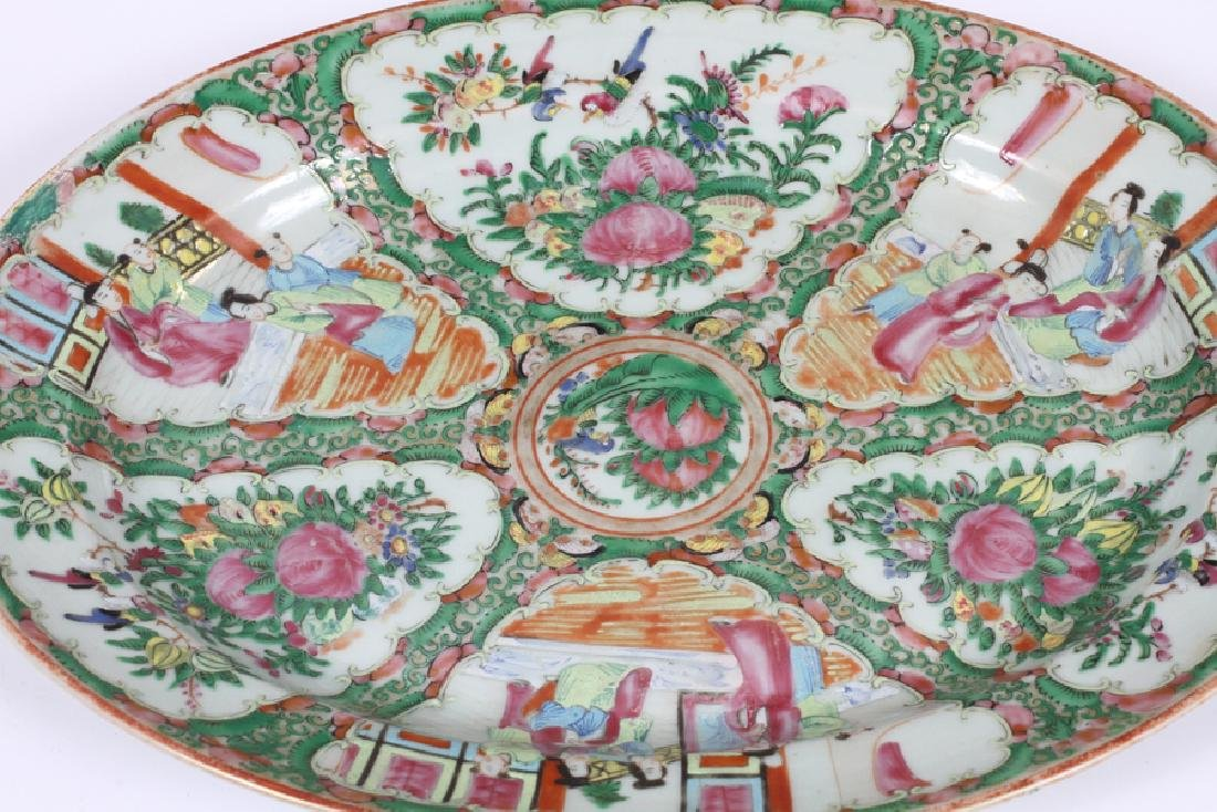 CHINESE ROSE MEDALLION PORCELAIN SERVING PLATTERS - 4