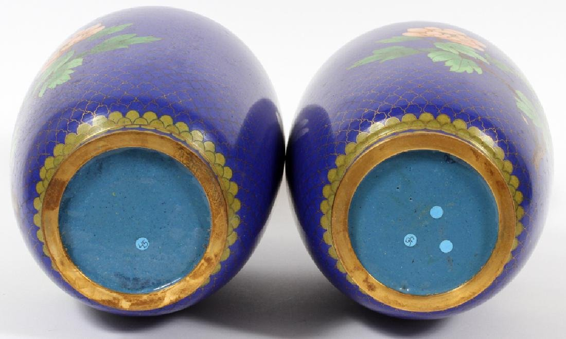 CHINESE CLOISONNE VASES, PAIR - 3
