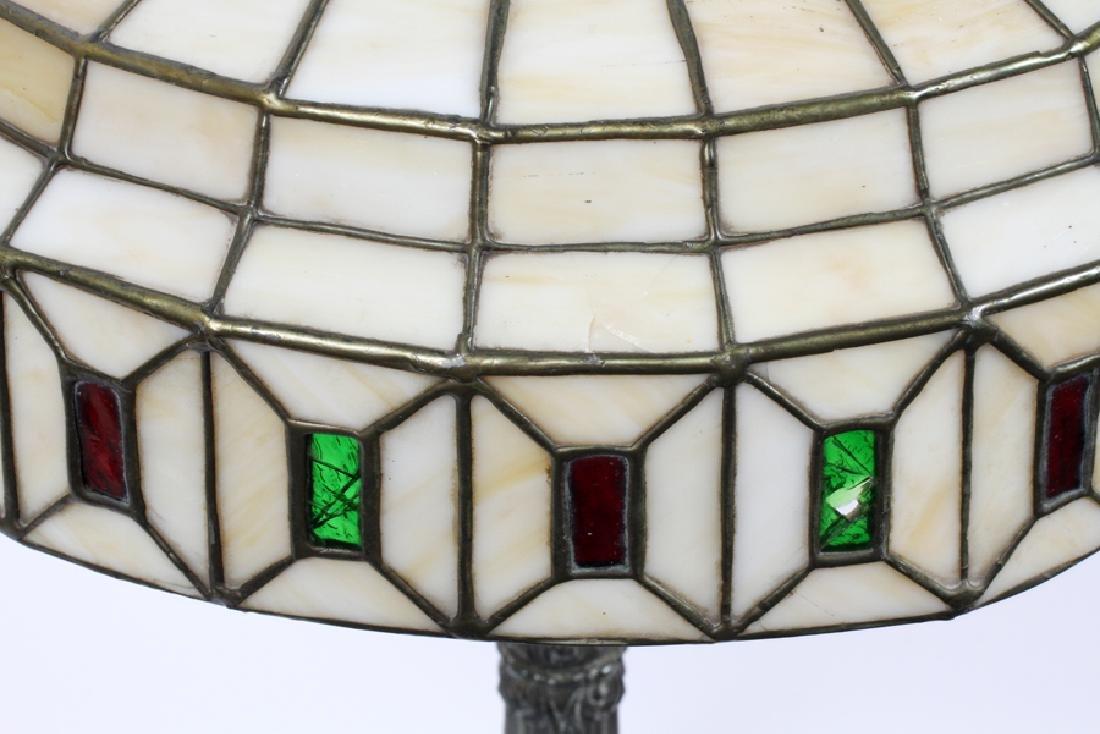 AMERICAN LEADED GLASS TABLE LAMP, CIRCA 1920 - 3