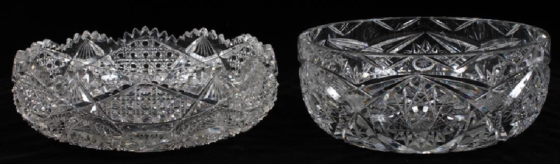 AMERICAN BRILLIANT GLASS FRUIT BOWLS, TWO PCS.
