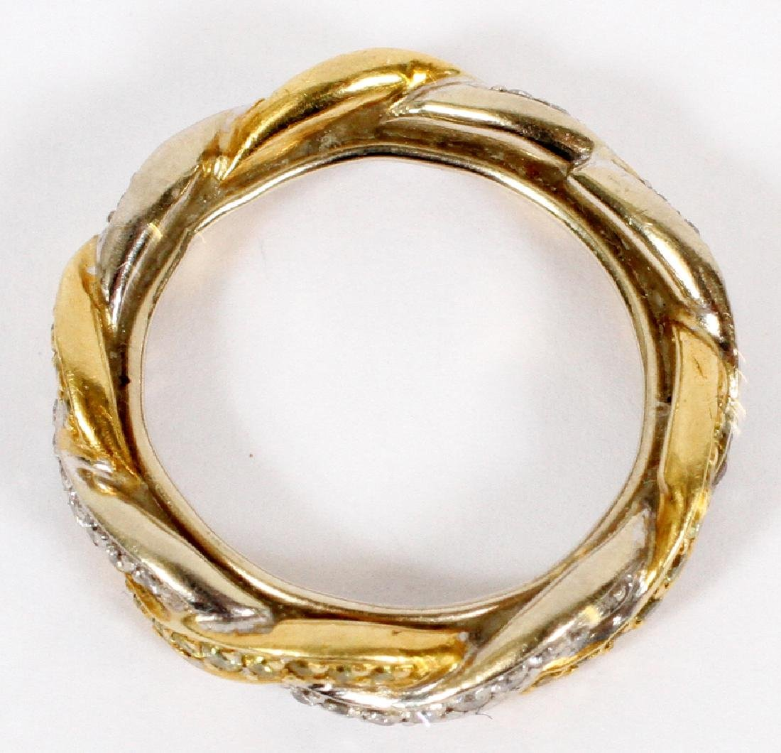 WHITE & YELLOW GOLD BAND, DIAMOND ENHANCED - 2