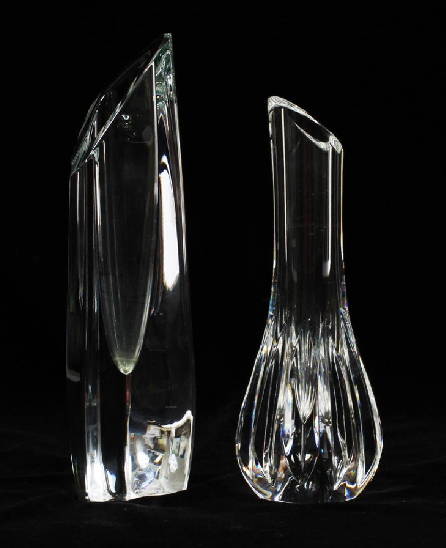 BACCARAT CRYSTAL & BLOWN GLASS BUD VASES