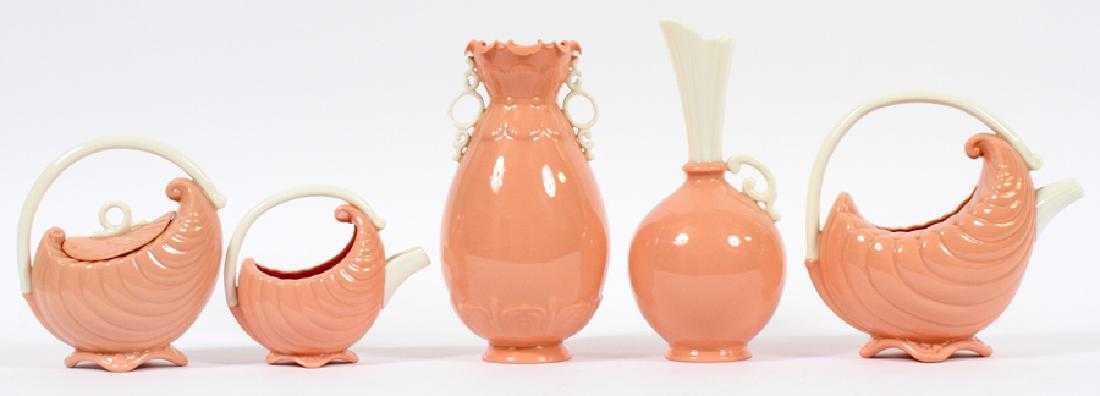 Early Lenox Porcelain Vases Tea Service 5 Pcs