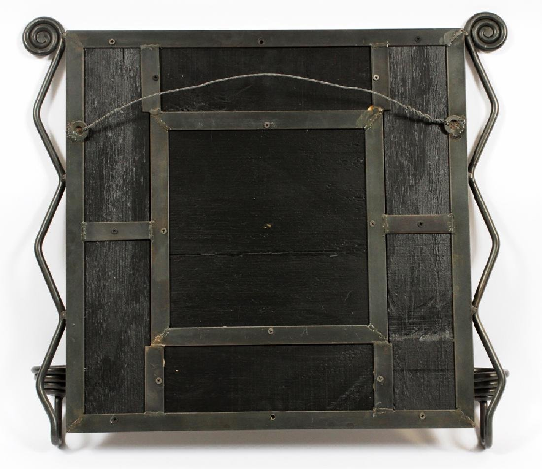 IRON AND TILE CONSOLE TABLE AND MIRROR, 2 PIECES - 6