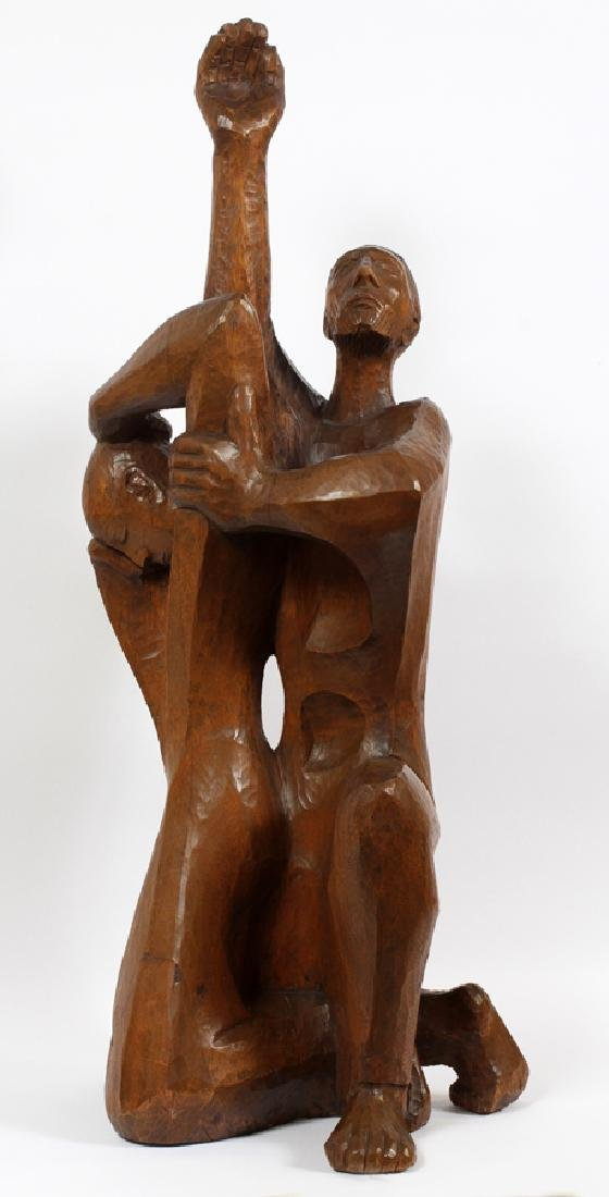 WALTER MIDENER CARVED WOOD SCULPTURE