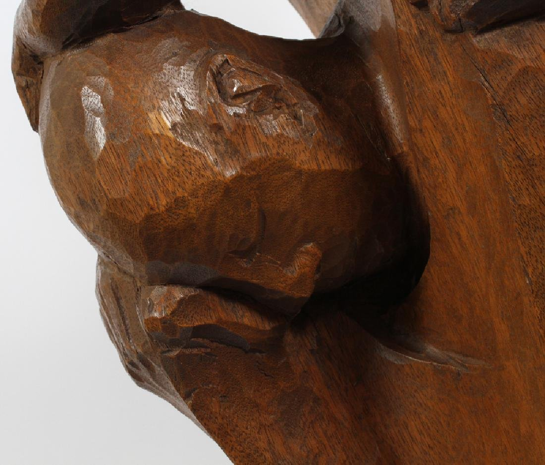 WALTER MIDENER CARVED WOOD SCULPTURE - 3