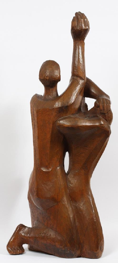 WALTER MIDENER CARVED WOOD SCULPTURE - 4