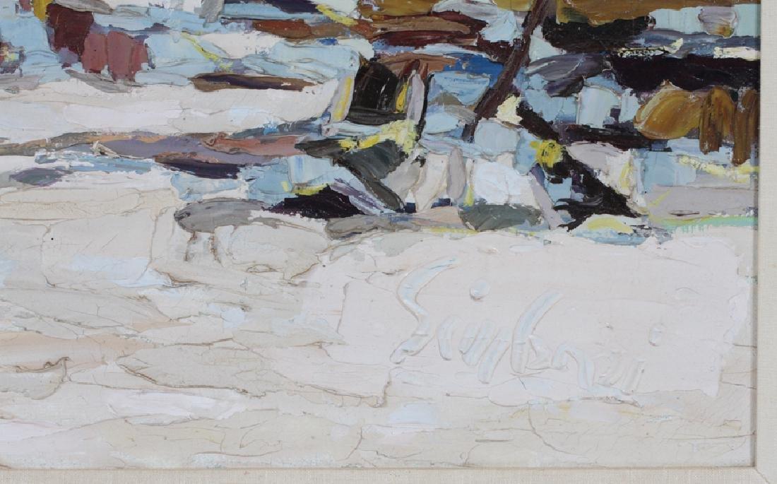 NICOLA SIMBARI OIL ON CANVAS PAINTING BEACH SCENE - 3