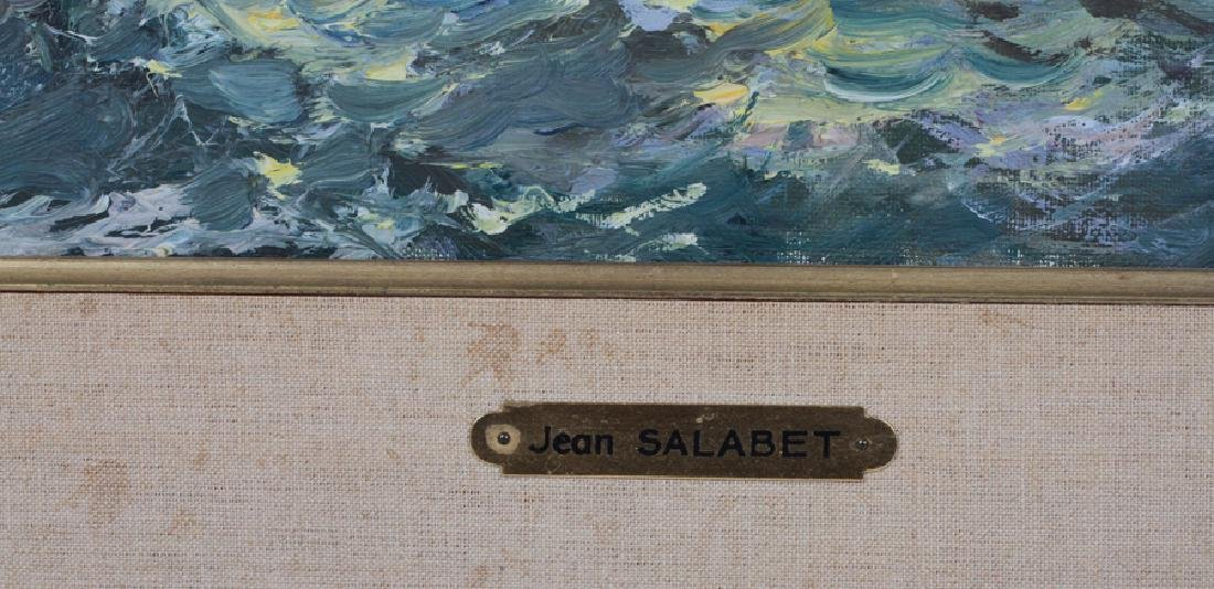 JEAN SALABET OIL ON CANVAS LIGHTHOUSE AT FECAMP - 4