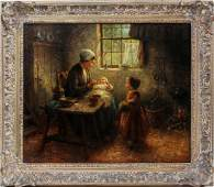 CORNELIS WOUTER BOUTER OIL ON CANVAS
