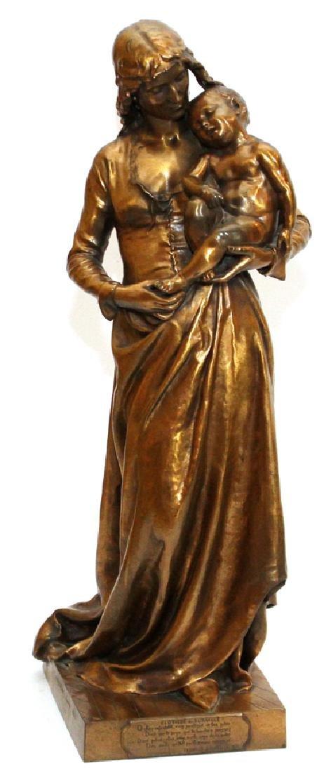 JEAN GAUTHERIN GOLD D'ORE BRONZE SCULPTURE, 1877