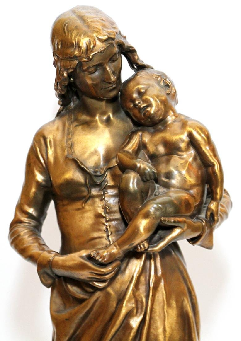 JEAN GAUTHERIN GOLD D'ORE BRONZE SCULPTURE, 1877 - 2